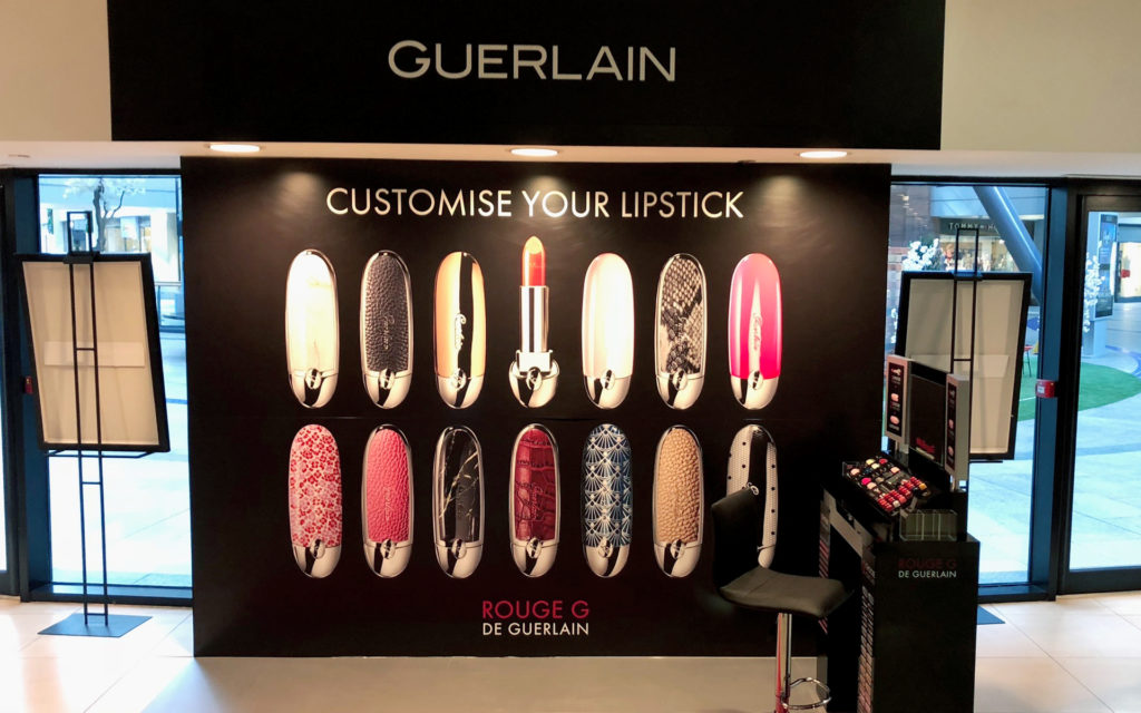 Guerlain Customise your lipstick shop interior